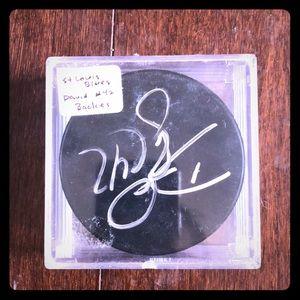 STL blues autographed puck